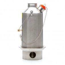 Large 'Base Camp' Kelly Kettle (Stainless Steel) 1.6 ltr NEW MODEL - NO RIVETS